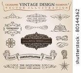 calligraphic elements vintage... | Shutterstock .eps vector #80144362