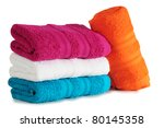 Bath towel. - stock photo