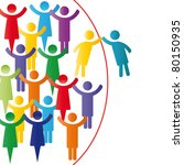person join people members... | Shutterstock .eps vector #80150935