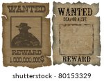 a old wanted posters with a... | Shutterstock .eps vector #80153329
