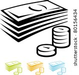money vector icon   Shutterstock .eps vector #80156434