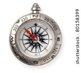 Compass Isolated On White...