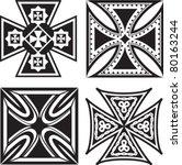 iron crosses   Shutterstock .eps vector #80163244