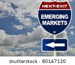 Emerging Markets Road Sign