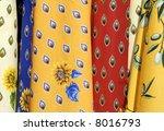 Fabrics from France - stock photo