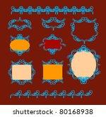 collection of frame design... | Shutterstock .eps vector #80168938