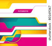 designed futuristic abstract... | Shutterstock .eps vector #80169367