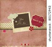 pink scrap template | Shutterstock .eps vector #80172943