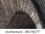 detail of a bridge covered by...