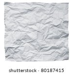 big square crumpled paper on a... | Shutterstock . vector #80187415