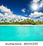 Landscape Of Tropical Island...