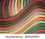 retro muted earth tones wavy... | Shutterstock .eps vector #80205907