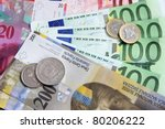 Swiss Franc versus Euro - stock photo