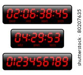 countdown timer. vector. | Shutterstock .eps vector #80207635