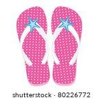 pink flip flops | Shutterstock .eps vector #80226772
