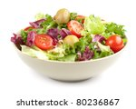 vegetable salad isolated on... | Shutterstock . vector #80236867