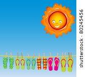 Flip Flops Under The Sun