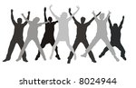 seven friends swing hands in a... | Shutterstock .eps vector #8024944