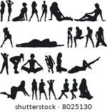 illustration of sexy woman...   Shutterstock .eps vector #8025130