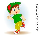runner boy | Shutterstock .eps vector #80255383