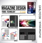 magazine layout design template ... | Shutterstock .eps vector #80267845