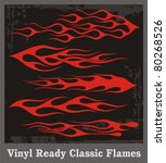 vinyl ready red flames. great... | Shutterstock .eps vector #80268526