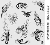 set of floral designs | Shutterstock .eps vector #80273119