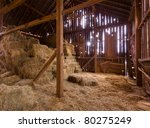 Hdr Image Of An Old Barn With...