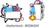 spaceship cartoon copyspace in... | Shutterstock .eps vector #80286265
