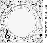 musical notes background | Shutterstock .eps vector #80287030