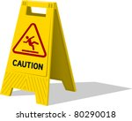 wet floor and cleaning in... | Shutterstock .eps vector #80290018
