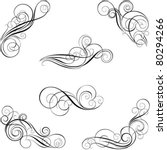 set of calligraphy design | Shutterstock .eps vector #80294266