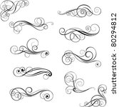 set of swirl design ornaments | Shutterstock .eps vector #80294812