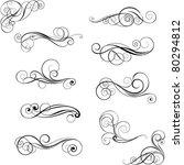 set of swirl design ornaments | Shutterstock .eps vector #80294812