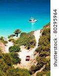 ship anchored in the bay. crete ... | Shutterstock . vector #80295964