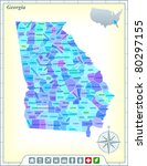 georgia state map with... | Shutterstock .eps vector #80297155