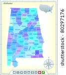 alabama state map with...   Shutterstock .eps vector #80297176