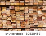 Stack Of Wood Logs For...