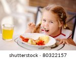 little smiling girl have a... | Shutterstock . vector #80322157