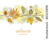 horizontal autumn background | Shutterstock .eps vector #80325898