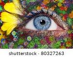 Blue Woman Eye Makeup Inspired...