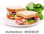 Healthy Ham Sandwich With...