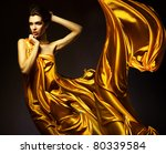 Attractive Woman In Yellow...