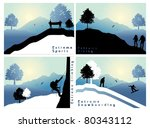 extreme sports set 1 | Shutterstock .eps vector #80343112