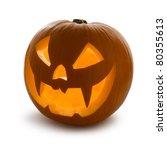 halloween pumpkin  scary jack o'... | Shutterstock . vector #80355613