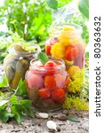 Preserved Tomatoes Cucumbers...