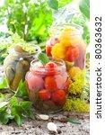 Preserved Tomatoes Cucumbers...
