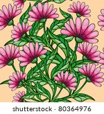 seamless floral background | Shutterstock .eps vector #80364976