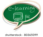 e learning | Shutterstock .eps vector #80365099