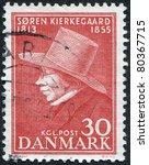 denmark   circa 1955  a stamp...   Shutterstock . vector #80367715